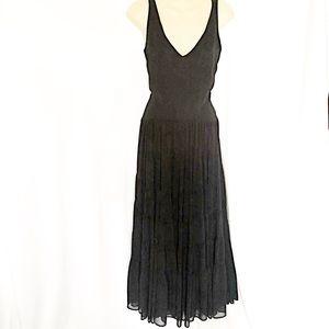 ARIA - Long Layered Black Dress